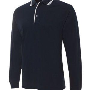 JB's Wear Long Sleeve Contrast Polo