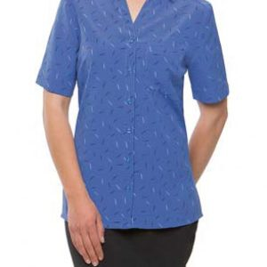 City Collection Ladies Drift Print Short Sleeve Shirt