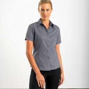 John Kevin Ladies Short Sleeve Pin Stripe