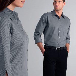 John Kevin Mens Long Sleeve Pin Stripe