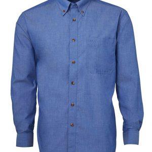 JB's Wear Mens Indigo Long Sleeve Shirt