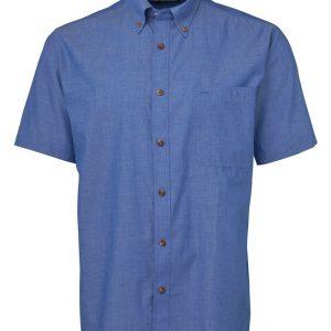 JB's Wear Mens Short Sleeve Indigo Shirt