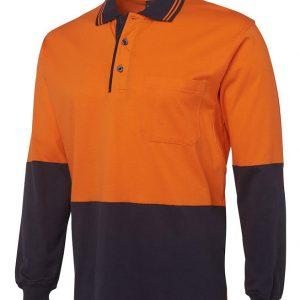 JB's Wear Hi Vis Long Sleeve Cotton Polo