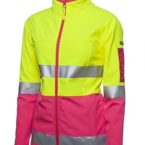 JB's Wear Hi Vis Ladies Soft Shell Jacket