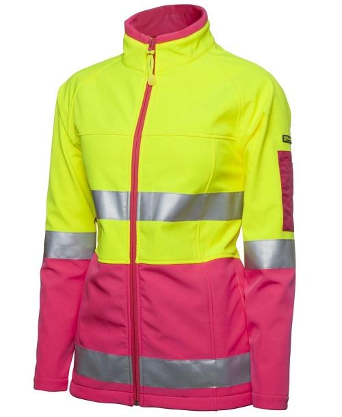JB's Wear Hi Vis Ladies Soft Shell Jacket