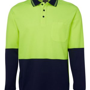 JB's Wear Hi Vis Long Sleeve Traditional Polo
