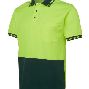 JB's Wear Hi Vis Short Sleeve Cotton Back Polo