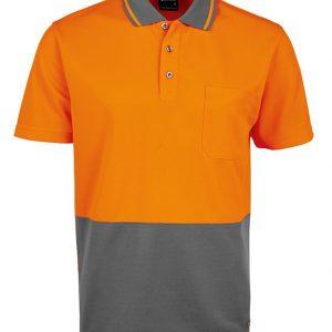 JB's Wear Hi Vis Non Cuff Traditional Polo