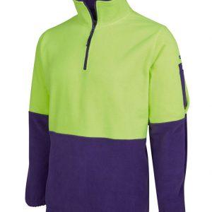 JB's Wear Hi Vis 1/2 Zip Polar Fleece