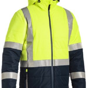 Bisley Hi Vis Taped Puffer Jacket