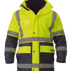 Bisley Hi Vis 5 in 1 Taped Rain Jacket