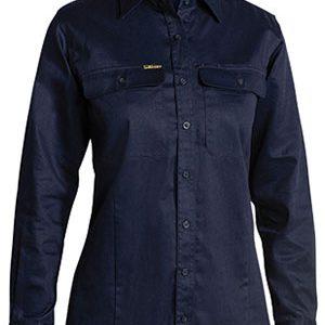 Bisley Ladies Long Sleeve Drill Shirt