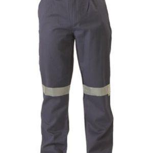 Bisley Mens Flame Resistant Hi Vis Taped Drill Pant