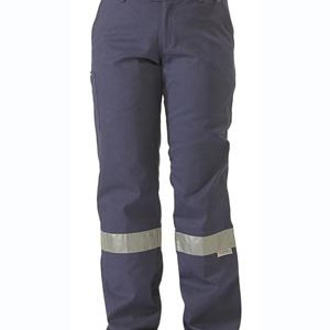 Bisley Ladies Drill Pant 3M Reflective Tape