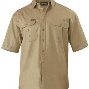 Bisley Original Cotton Mens Drill Short Sleeve Shirt