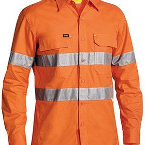Bisley Hi Vis Long Sleeve Taped X Airflow Ripstop Shirt