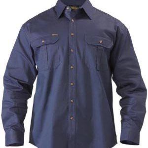 Bisley Original Cotton Mens Drill Long Sleeve Shirt