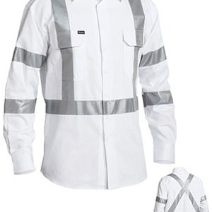 Bisley 3M Taped White Drill Shirt