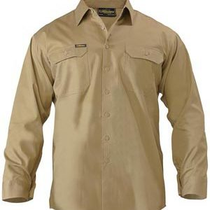 Bisley Cool Lightweight Mens Drill Long Sleeve Shirt