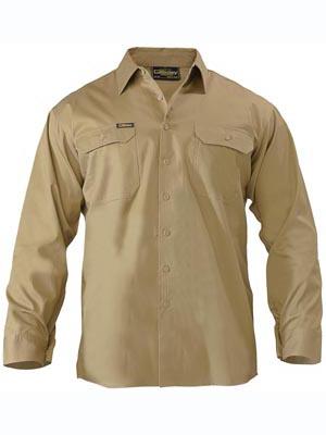 Bisley Cool Lightweight Mens Drill Long Sleeve Shirt