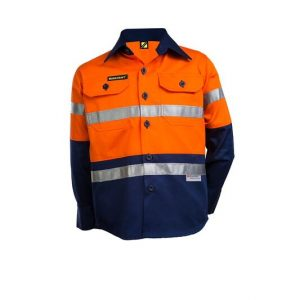 Kids Hi Vis Taped Long Sleeve Shirt