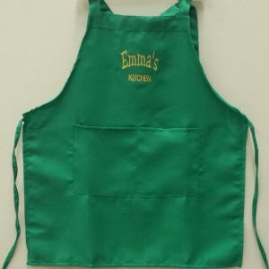 Kids Apron With Pocket  and Embroidery